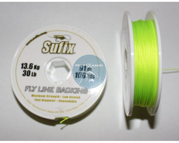 sufix backing mosca 100yd 30lb neon